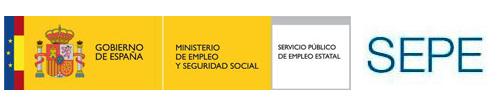 LOGOTIPO DEL SEPE Y DEL MINISTERIO DE TRABAJO Y SEGURIDAD SOCIAL