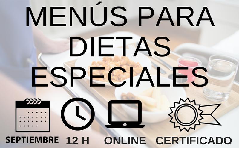 Pre-inscripción curso menus dietas especiales