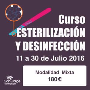 Curso Esterilización y desinfección modalidad mixta
