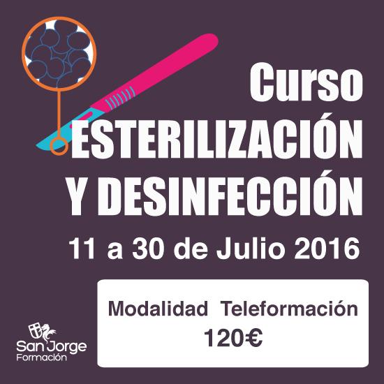 Curso Esterilización y desinfección modalidad teleformación