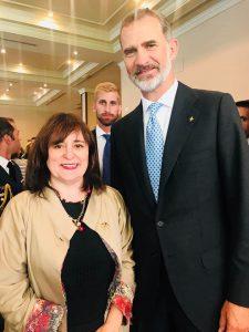 Nuestra Directora con S.M. el Rey Don Felipe VI