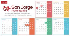 CALENDARIO SAN JORGE 2020